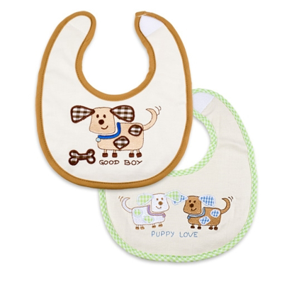 "Picture of ""Puppy Love"" Bibs (Small) - 2 pack"