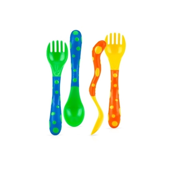 Picture of Fun Feeding™ Spoon & Fork - 2 sets