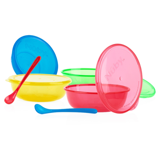 Picture of Stackable Bowls & Long Handle Feeding Spoons