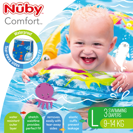 Picture of Comfort™ Swimming Diapers - Large (9-14 kg) - Boy
