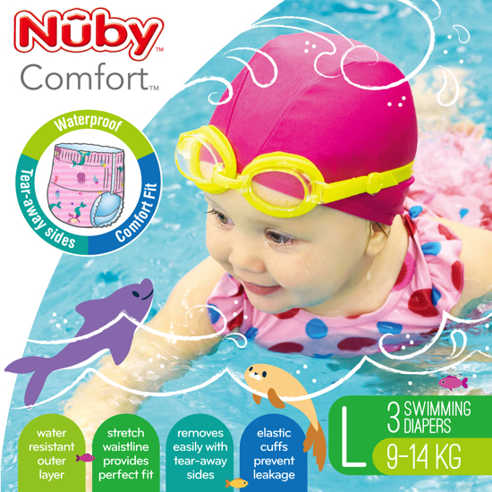 Picture of Comfort™ Swimming Diapers - Large (9-14 kg) - Girl