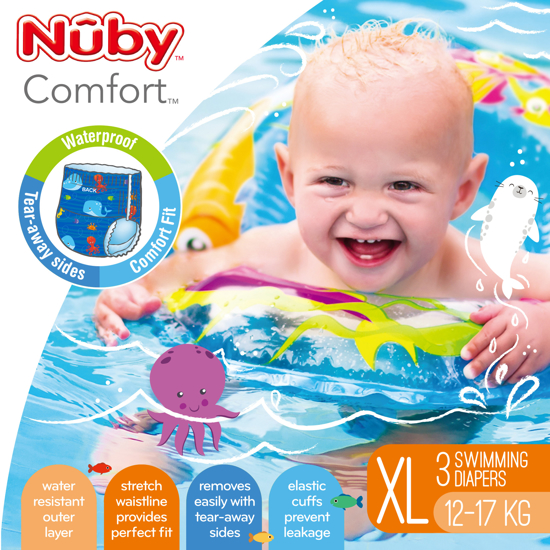 Picture of Comfort™ Swimming Diapers - Extra Large (12-17 kg) - Boy